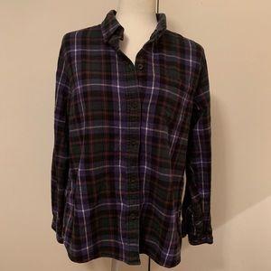 LL Bean Plaid Flannel Shirt.